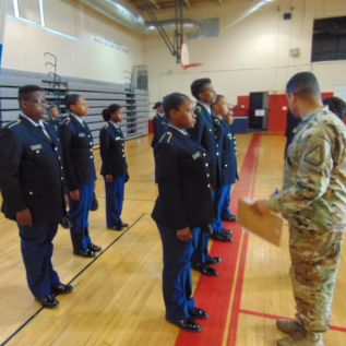 McCluer Army JROTC Passes Accreditation Evaluation
