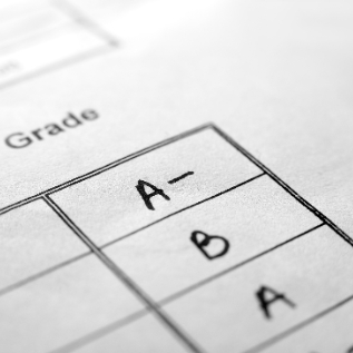 Photo of letter grades